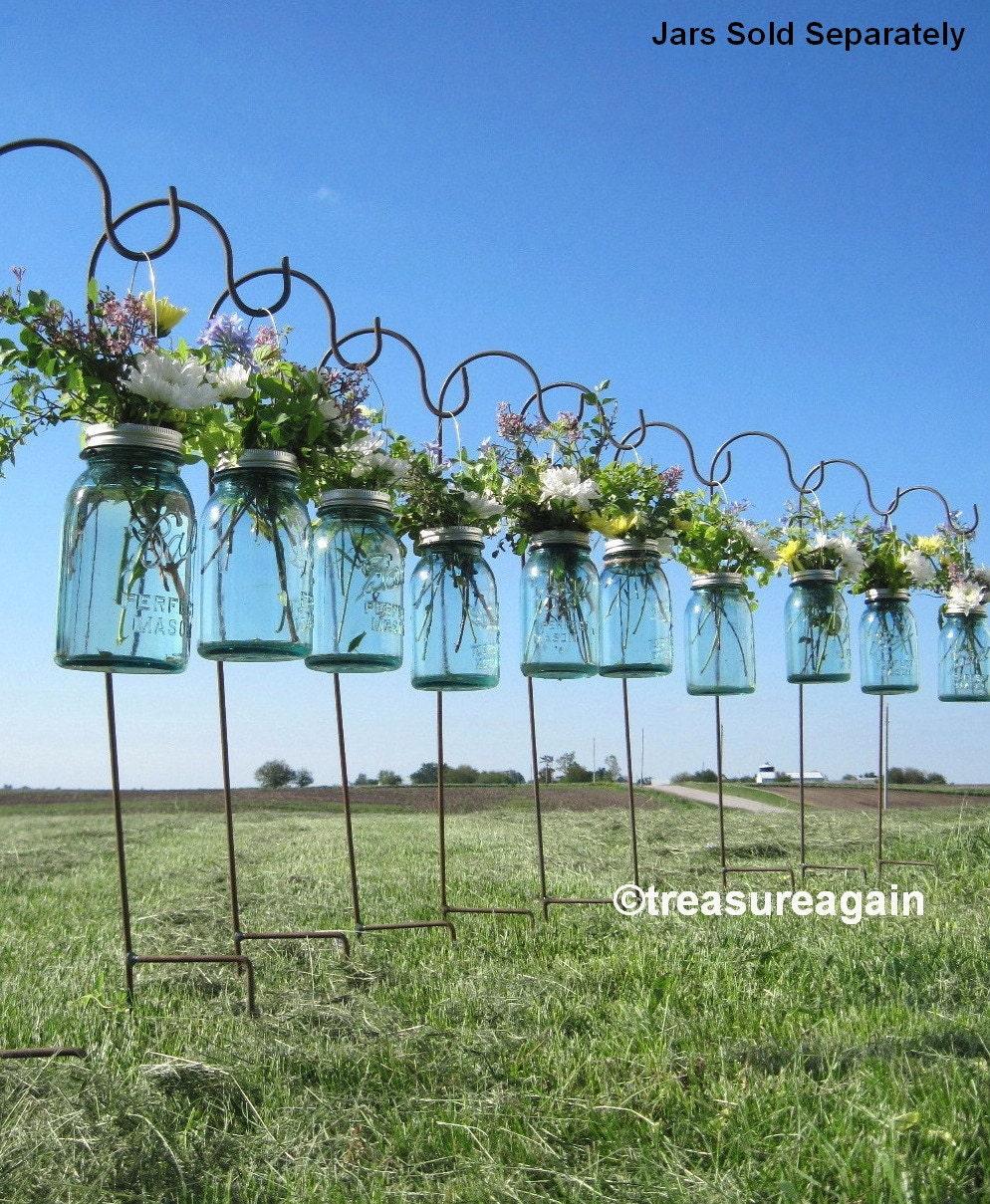 Wedding Flowers In Mason Jars: DIY Hanging Vases Ball Mason Jar Hanging Flower Frog LIDS