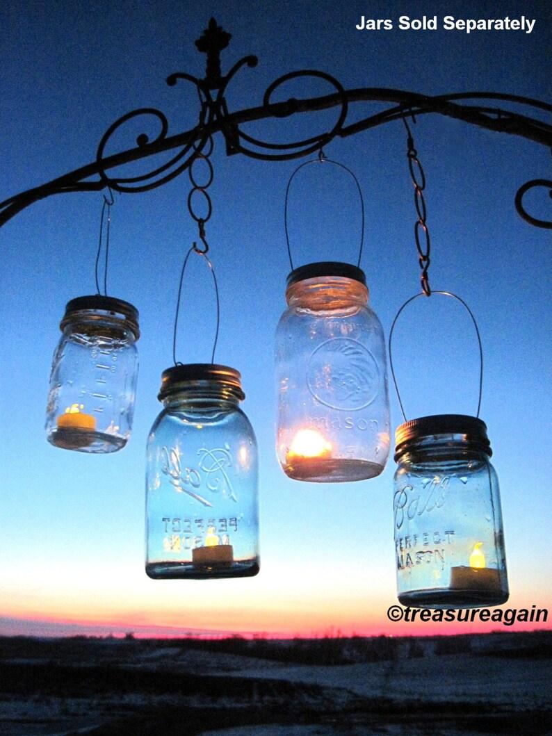 30 Candle Lantern Lids Diy Wedding Mason Jar Lanterns Hanging Etsy