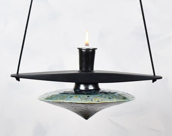 Oil Lamp, Hanging, Sconce, Oil Candle, Pendant, Flying Saucer, Red