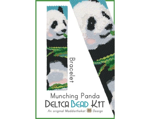PANDA AND A SUNFLOWER~BEADED BANNER PDF PATTERN ONLY