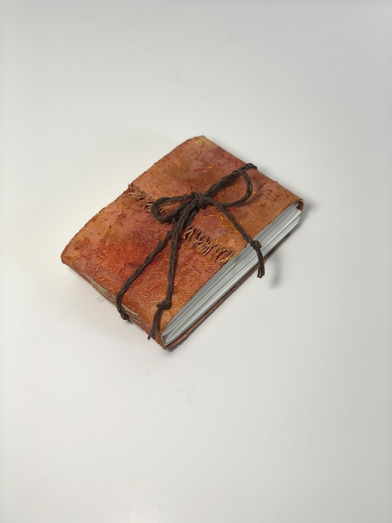Mixed Media Canvas Covered Pocket Hand bound Art Journal image 0