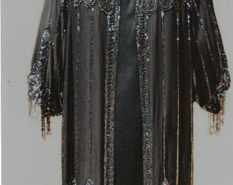 20's Deco Beaded Satin Coat/ 60's Satin Gown/ Beaded Purse Complete Ensemble Reduced Item # 226 Coats/Gown