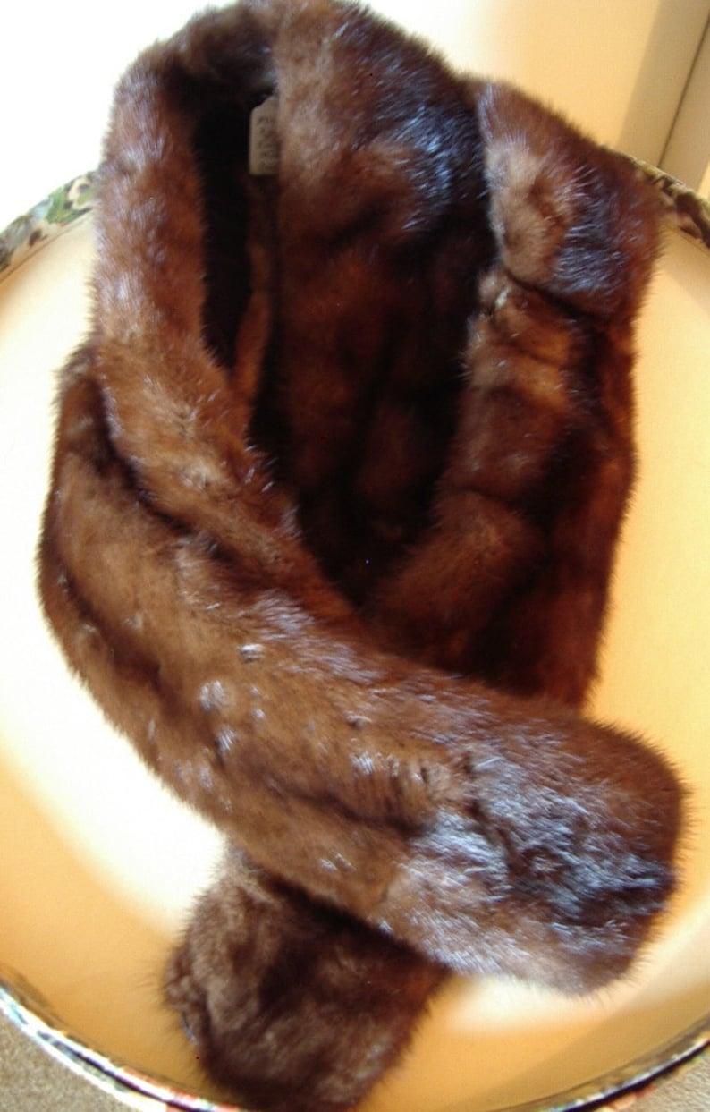 Real  Ranch Mink 5 Skin Scarf/ Boa Vintage 1960s  Item  FH104 image 0