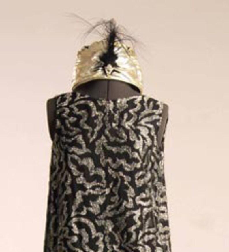 1920s Poiret Style Silver Devore Chiffon image 0