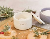 Half Baked Harvest x Etsy x Stuck in the Mud Pottery: White Ceramic Salt Cellar - MADE TO ORDER