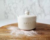 White Ceramic Salt Cellar