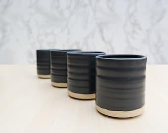 Matte Black Whiskey Ceramic Tumbler