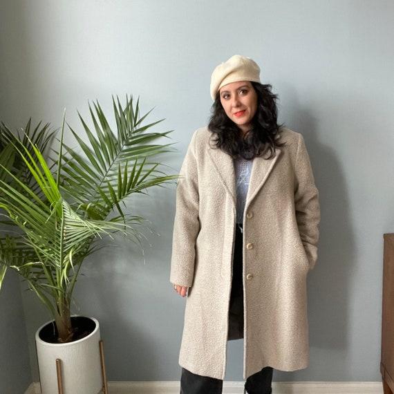 Alpaca & Cashmere Wool Neutral Over Coat Top Coat