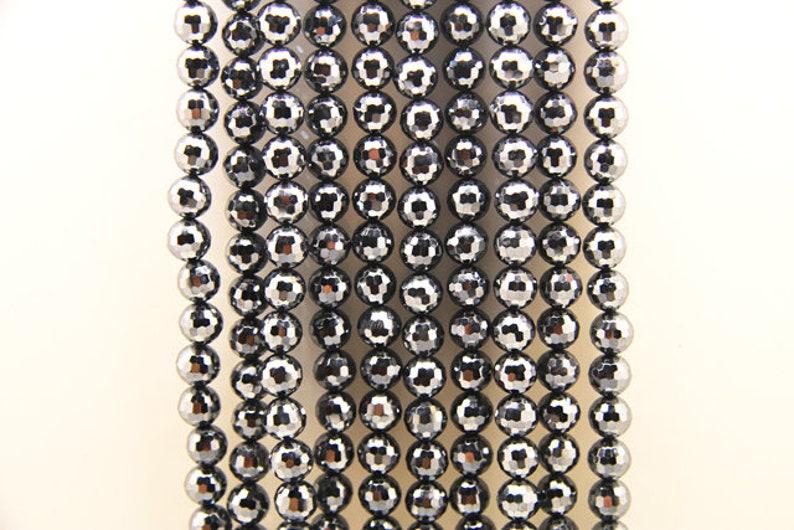 terahertz faceted ball sized 8mm 1strand