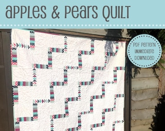 Apples and Pears Quilt Pattern - PDF Pattern