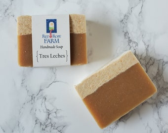 Tres Leches Soap, Vanilla, Cold Process, Extra-Moisturizing, 1 Bar