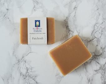 Sample of Patchouli Goat's Milk Soap, Cold Process, Extra-Moisturizing, 1 bar