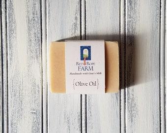 Olive Oil & Sheep's Milk Soap, Unscented, Sensitive Skin, Cold Process, Extra-Moisturizing, 1 bar