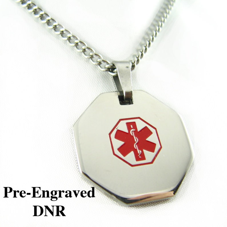 Homme Acier Inoxydable Brossé Ovale Médicale Pendentif Breloque At Any Cost Jewelry & Watches Fine Jewelry