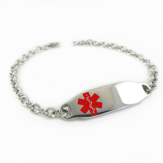 Pre-Engraved /& Customized Girl/'s Juvenile Diabetes Medical Charm Bracelet Steel O-Link My Identity Doctor