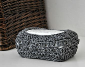 Cleansing Cloths Package Cover Grey Bathroom Decor Granny Chic Design Custom Colors