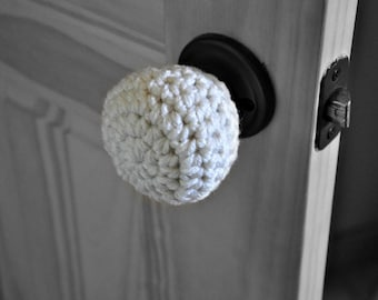 Padded Door Knob Stopper Wall Protector Modern Design Crocheted Home Decor Custom Colors
