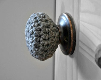 Child Safe Door Knob Covers Modern Design Toddler Protection Crocheted Home Decor Custom Colors