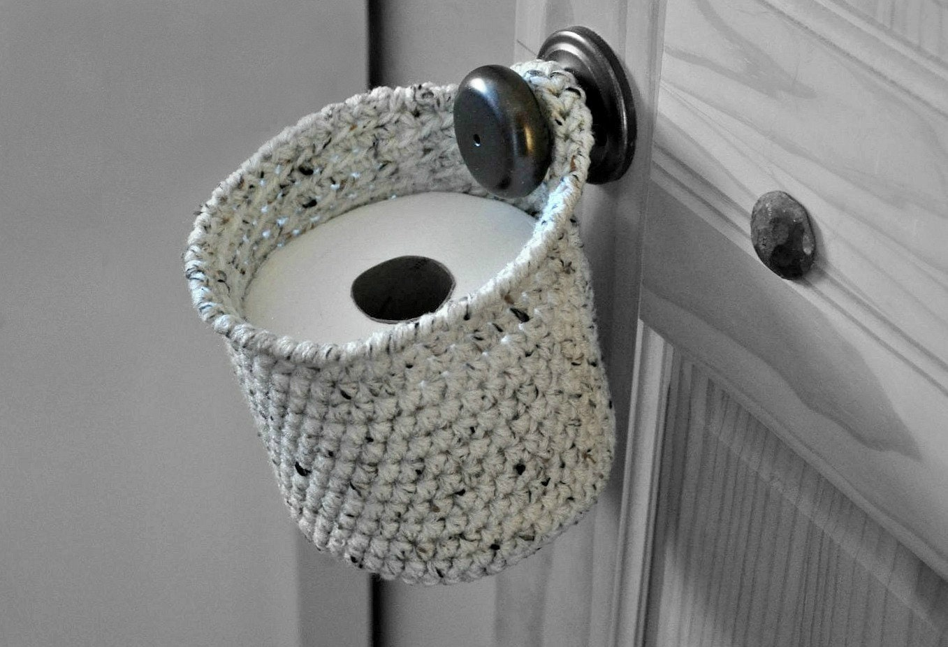 Toilet Paper Holder Space Saver Door Knob Spare Roll