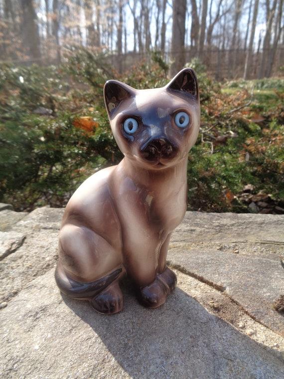 Genteel Beswick White Cat Ornament Old Pottery