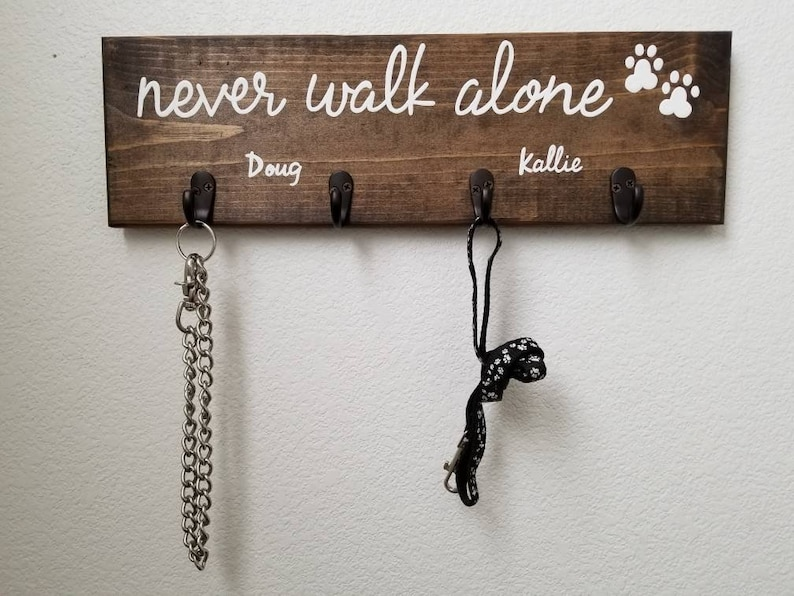 Personalized Dog Leash and Collar Hooks Personalized Dog image 0