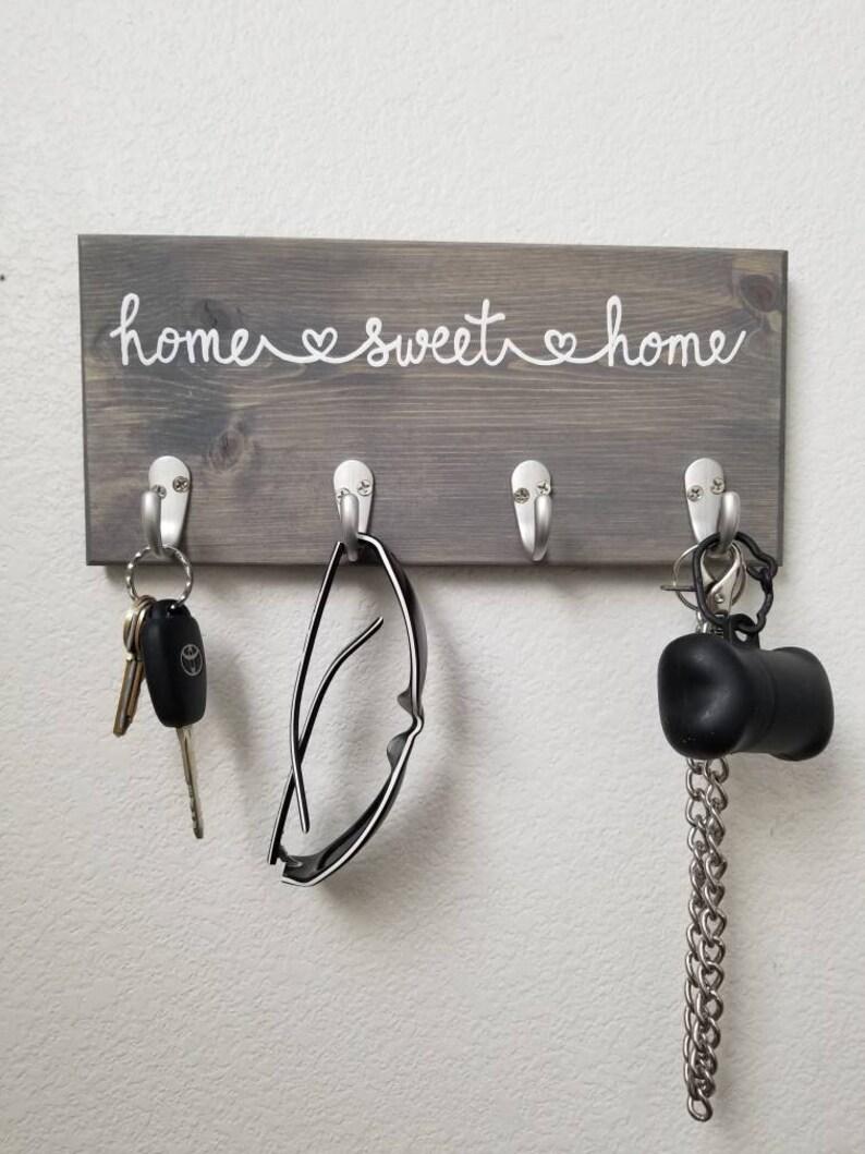 Home Sweet Home Key Hook Sign Leash Holder Key Rack Leash image 0