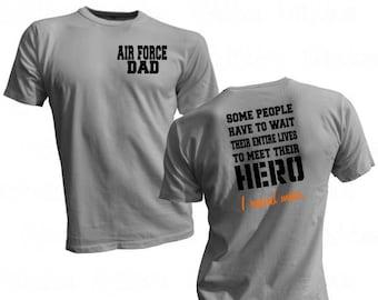 16b45d25 Air Force Dad Shirt - Military Hero Shirt - Raised my Hero Tee - Air Force  Dad Hero - Service Hero Shirt - Air Force Hero - Proud Air Force