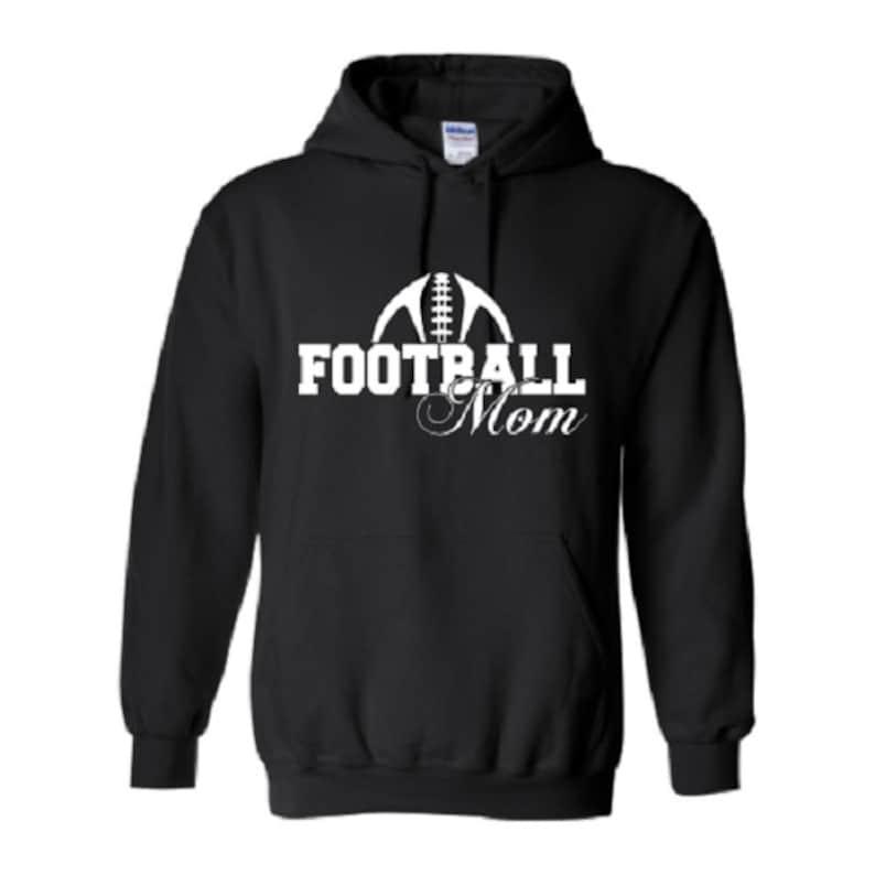 98271c22 Football Mom Outline Hoodie Football Mom Apparel Football | Etsy
