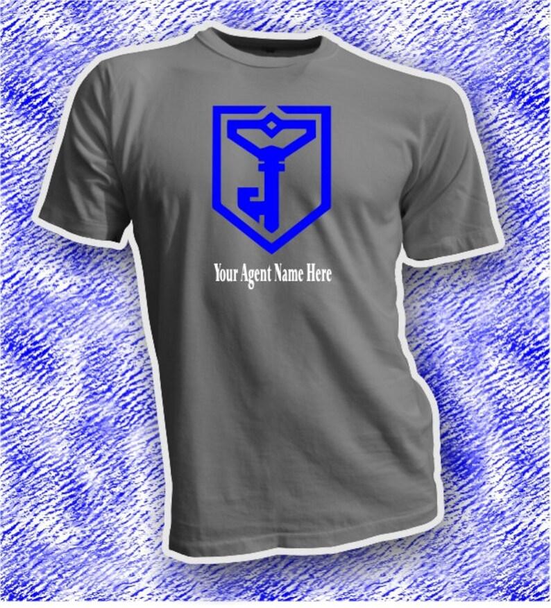 Ingress Resistance T Shirt - Personalized Agent Name Shirt - Ingress Smurfs  Agent Tee - Unisex Resistance Shirts - Ingress Smurfs Apparel