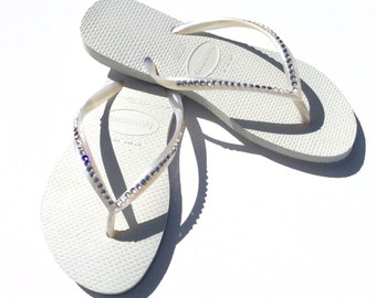 8ac28d6e67e Swarovski Crystal Havaiana Bridal Flip Flops