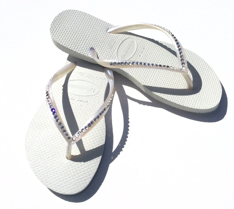 62edd36da8b3be Swarovski Crystal Havaiana Bridal Flip Flops Wedding Sandals