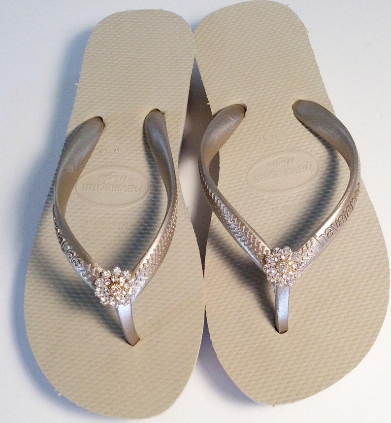 fd10a646e802 Havaiana high light Nude metallic bridal Sandals Swarovski