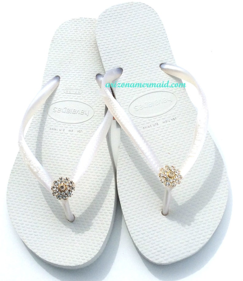 f35006790c697 Havaiana Slim Flip Flops Bridal Wedding Swarovski Crystal