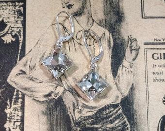 Great Gatsby Earrings - 1920s Earrings - Downton Abbey Jewelry - Estate Earrings - Wedding Jewelry - Gift for Her - Vintage Style