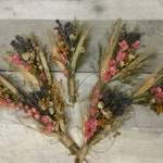 Deluxe Boutonniere or Dried Mini Floral Bouquet Ornament