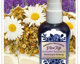 Pillow Mist Lavender Chamomile-4 oz. Blue Sprayer Bottle