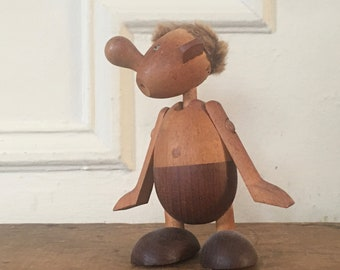 Hans Bolling Strit Wooden Toy for Oskov & Co- vintage, MCM, 1950s, TEAK doll, figurine - authentic Mid Century Modern, Danish Modern