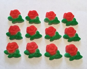 Rose Sugar Layons, Edible Roses, Cake Decorating Supplies, Cupcake Topper, Roses, Baby Shower, Wedding, Garden Tea Party