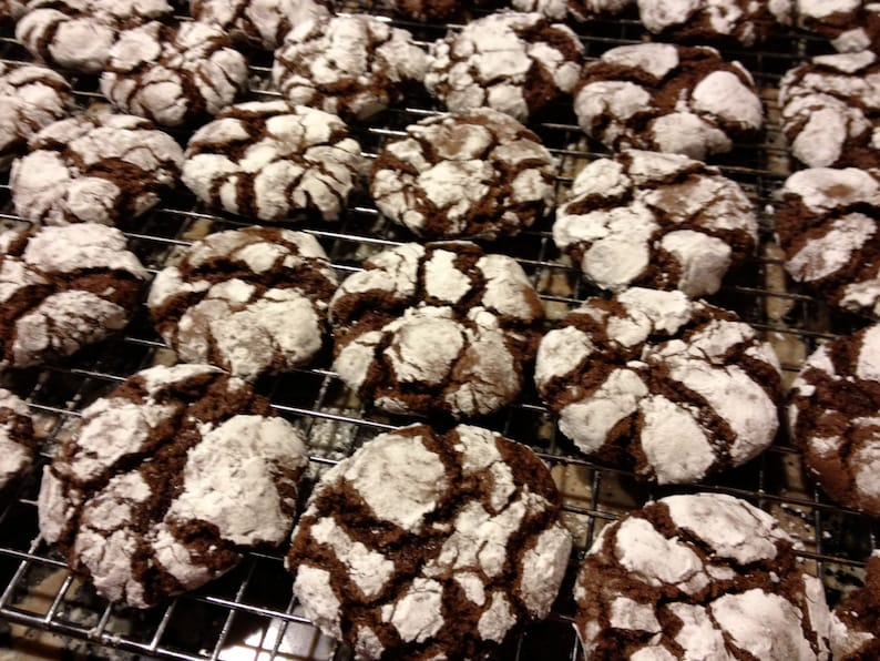 Double Chocolate Crackle Cookies Crinkles Crackles Homemade image 0