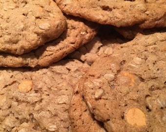 Oatmeal Scotchie Cookies, Homemade Cookie, Butterscotch, Student Food Gift, College Care Box, Bakery, Homemade Baked Goods, 1 dozen