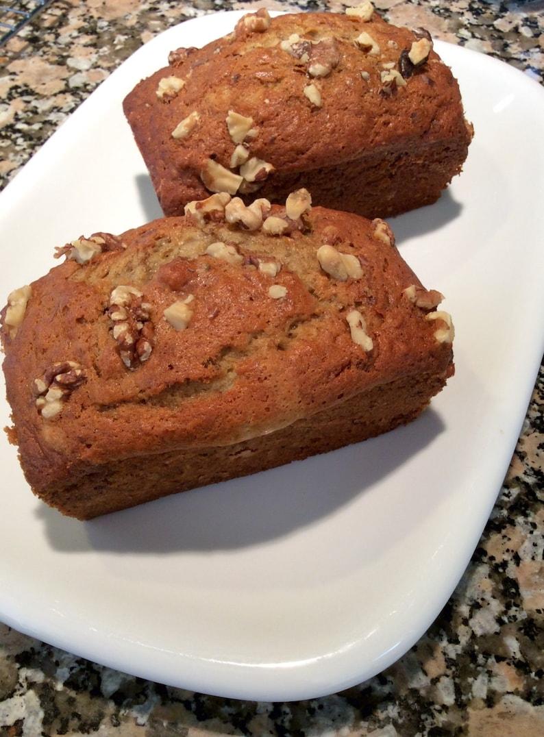 3 Loaves Homemade Banana Nut Bread Banana Walnut Loaf Baked image 0