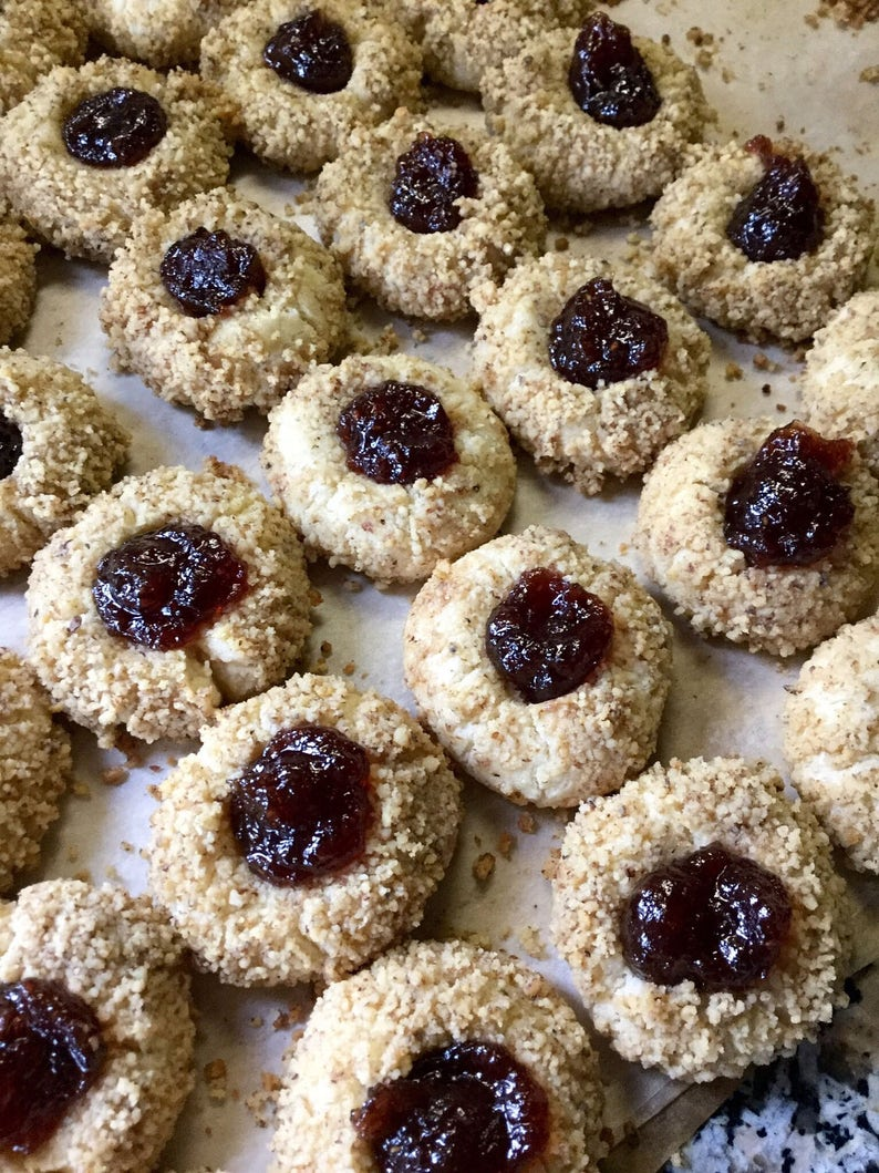 Toasted Nut Shortbread Thumbprint Cookies Pecan Cookie image 0