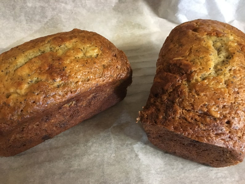 Homemade Banana Poppy Bread Bread Edible Gift Baked Goods image 0