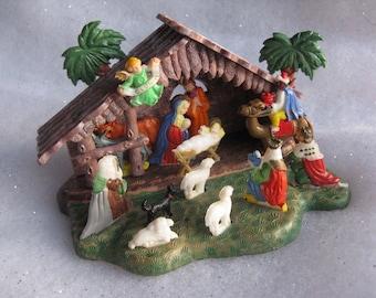 1960s Plastic Nativity with Scottie Dog