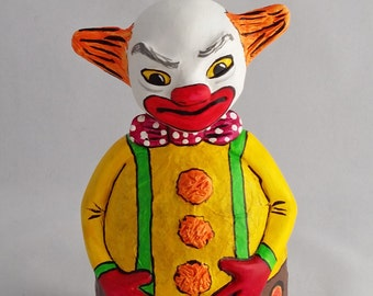 Small OOAK Roly Poly Clown Halloween and Fall Decoration by Lori Platt The Pixie Knoll