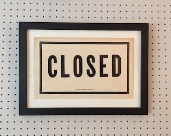 Vintage Shop Sign - CLOSED