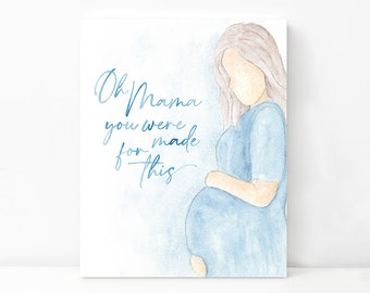 Mommy to Be Mother's Day Digital Art Print | Watercolor Art Print for New Moms | Mother's Day Digital Download | Baby Shower Digital Print