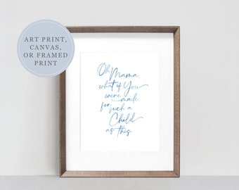 Mother's Day Gift Watercolor Print | Watercolor Painting for New Mom | Watercolor Painting for Mother's Day | Watercolor for Baby Shower