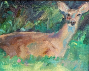 Deer, Wildlife, Nature, Doe, White tailed deer, Cabin art, Farmhouse decor, Father's day, Hunter, Rustic decor, For him, Southwest art