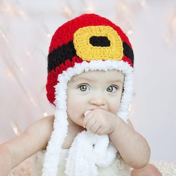 Crochet patrones sombrero de Santa Navidad descarga | Etsy